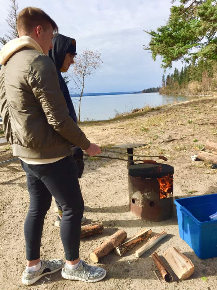 Camp Cookout in Prince Albert National Park