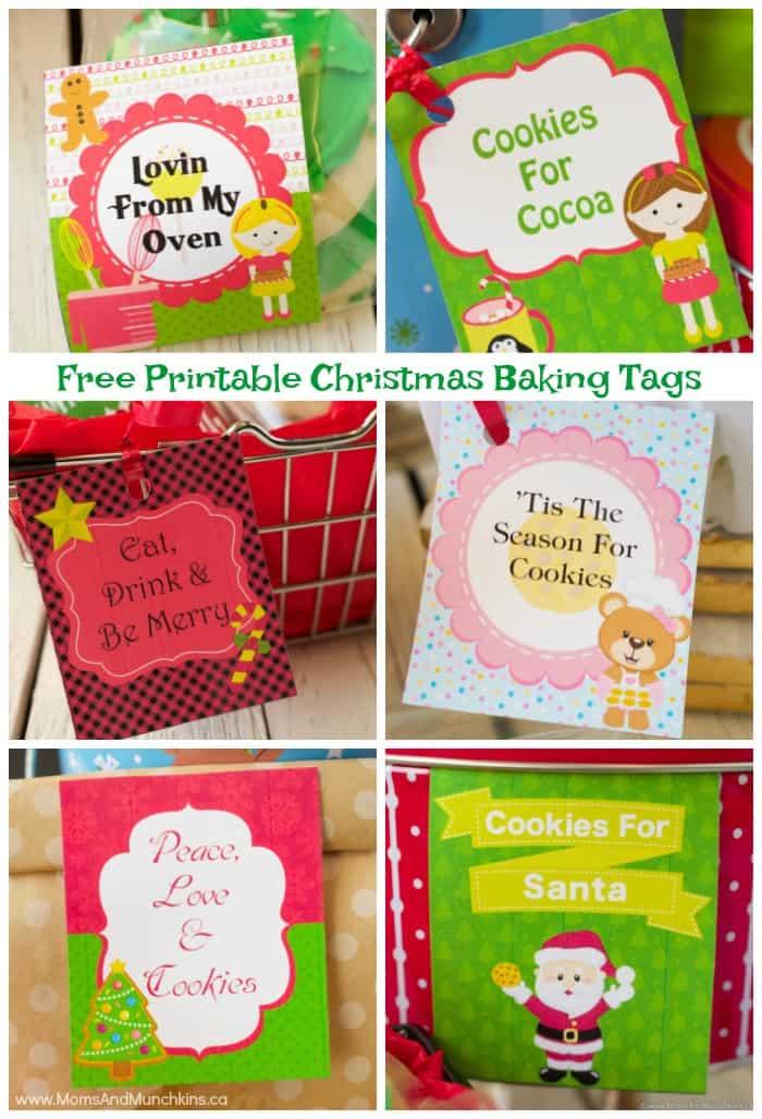 Free Printable Christmas Baking Tags