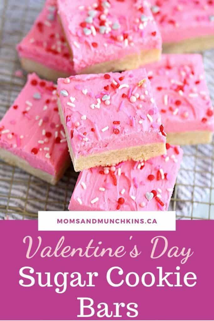 Valentine's Day Sugar Cookie Bars Recipe