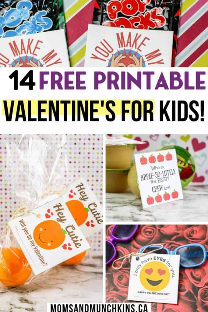14 Free Printable Valentines for Kids!