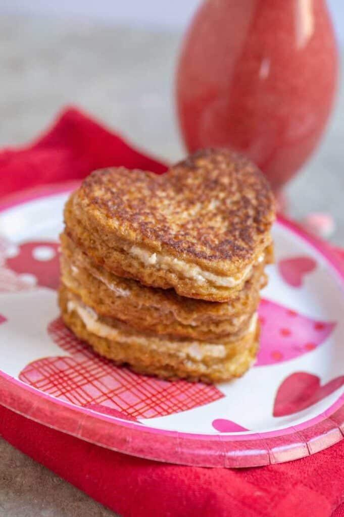 Heart Shaped Stuffed French Toast