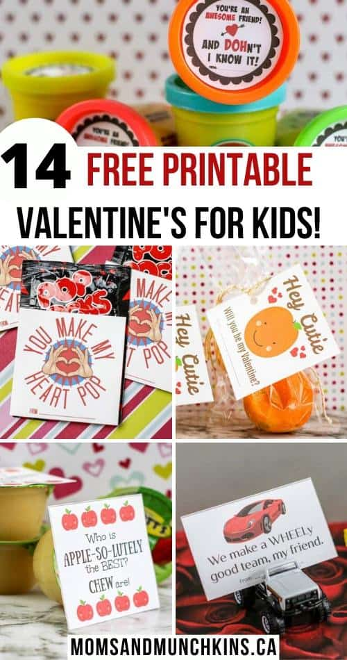 14 Free Printable Valentine's For Kids