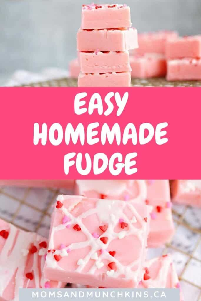 Easy Homemade Fudge for Valentine's Day