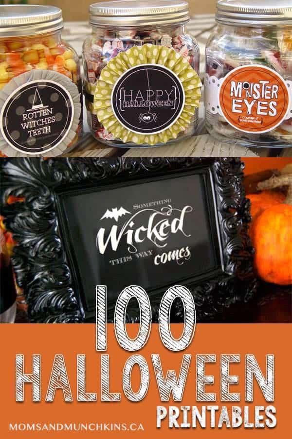 100 Halloween Printables