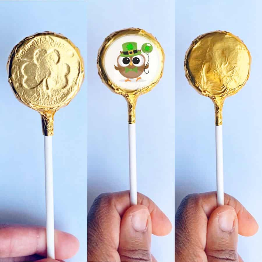 All 3 Gold Foil Wrapped Cake Pop Chocolate coins