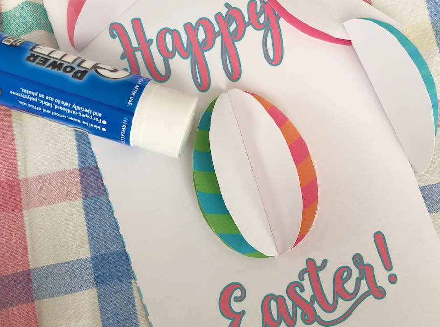 Continue Gluing Eggs to Card