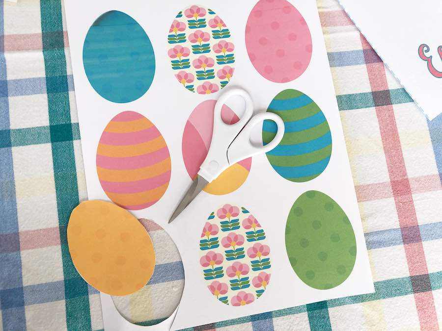 Cut out Printable Easter Eggs