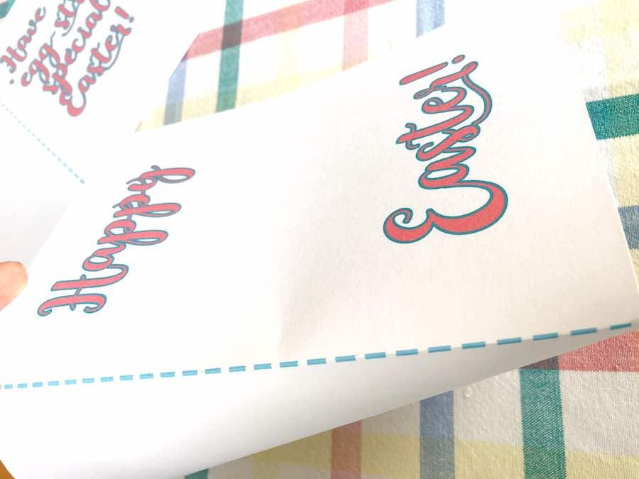 Folding Easter Card