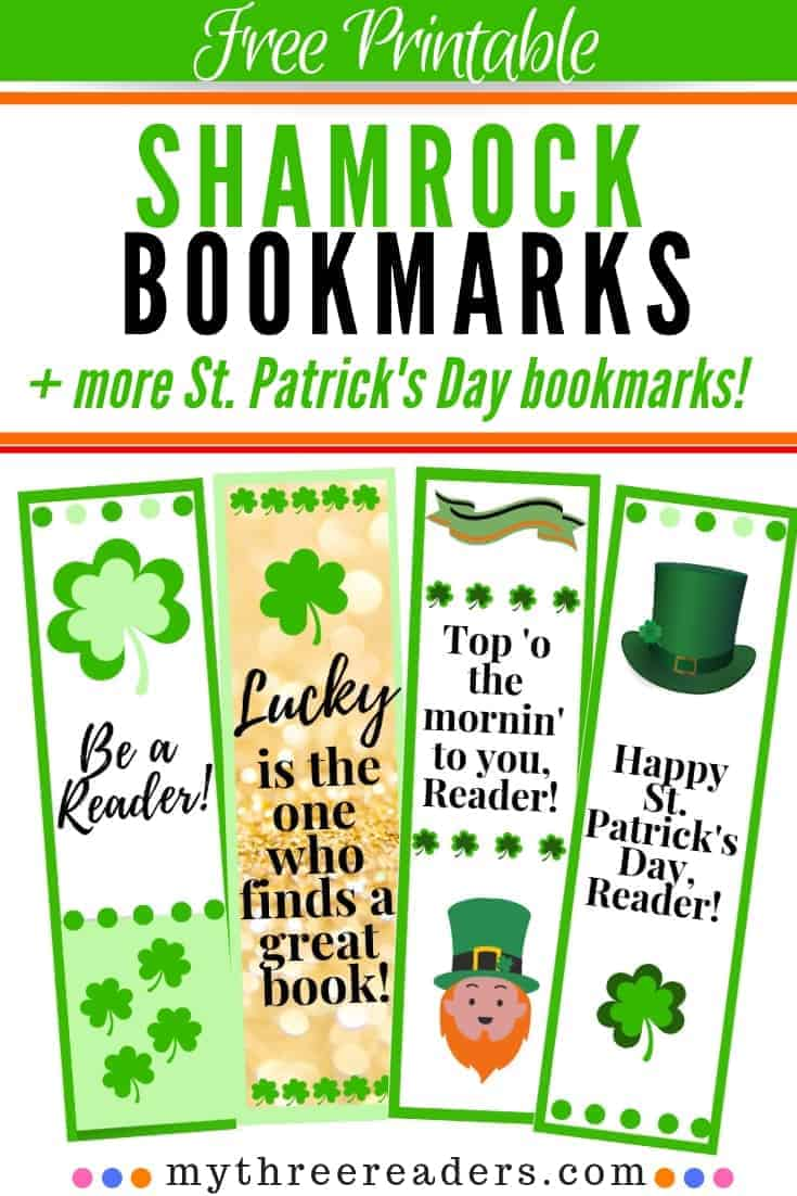 Free Printable Shamrock Bookmarks - St. Patrick's Day Reading FUN!