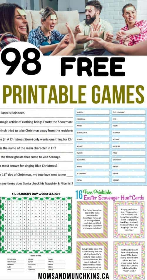 98 Free printable games