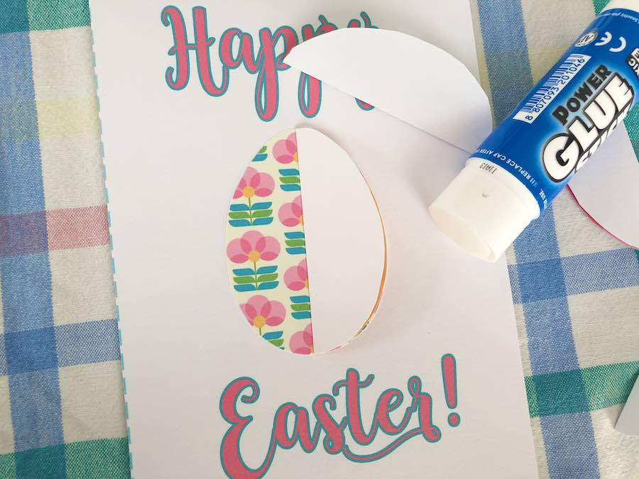 Glue Egg Half on Card