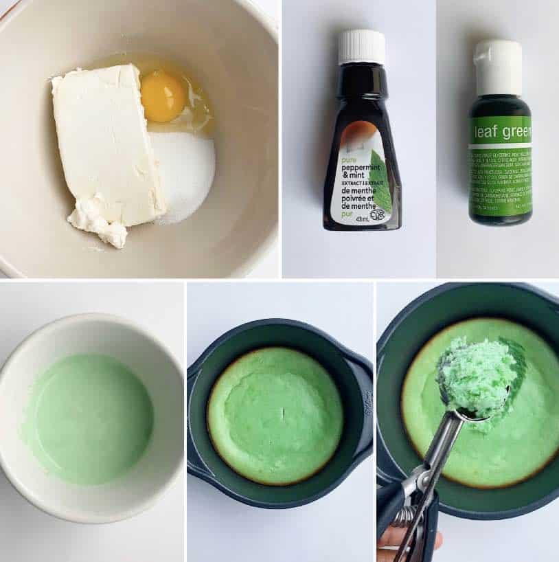 Mint Cheescake Ingredients