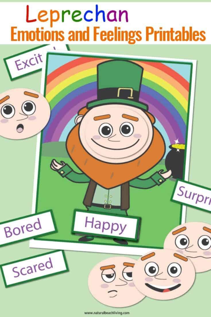 St. Patrick's Day Emotions Printables Leprechaun Activities