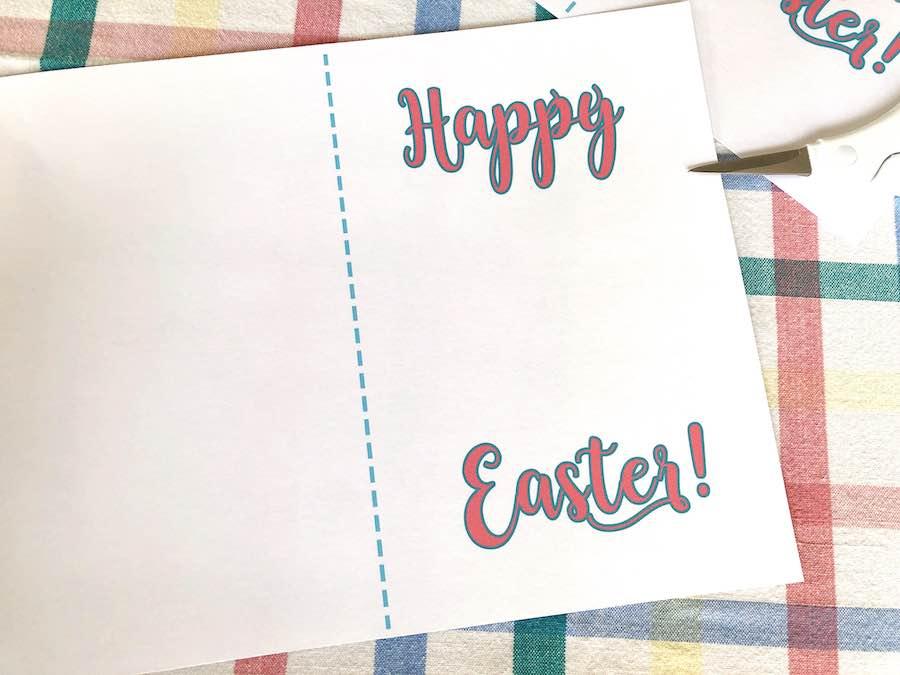 Printed Easter Card