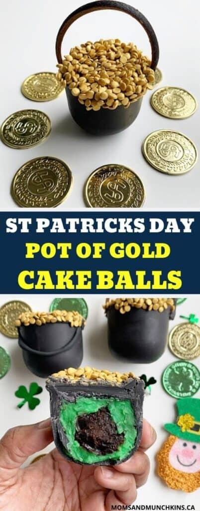 St Patricks Day Pot of Gold Cake Balls