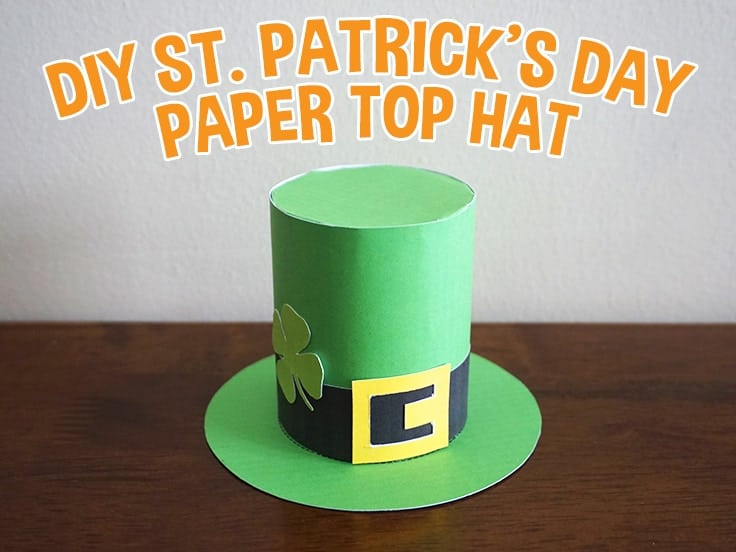 St. Patrick's Day Top Hat Craft for Kids