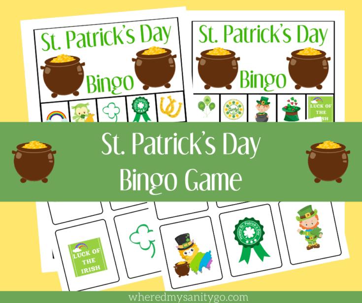 St Patricks Day Bingo Game Free Printable Bingo Cards and Calling Cards
