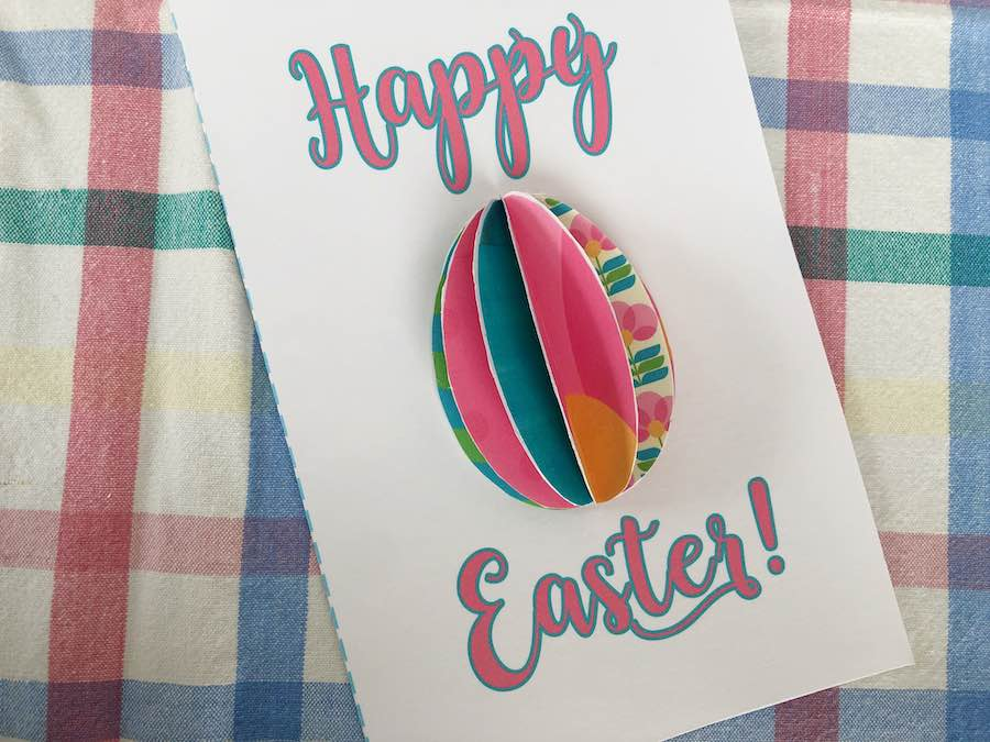 free printable 3D Easter card Completed