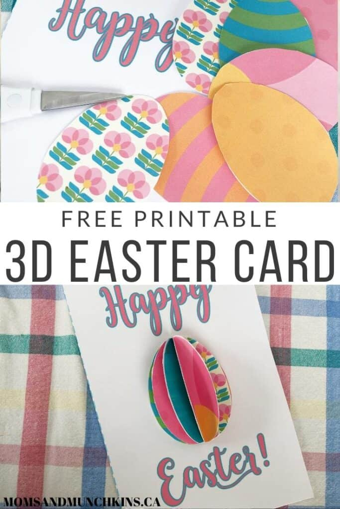 Free Printable 3D Easter Card