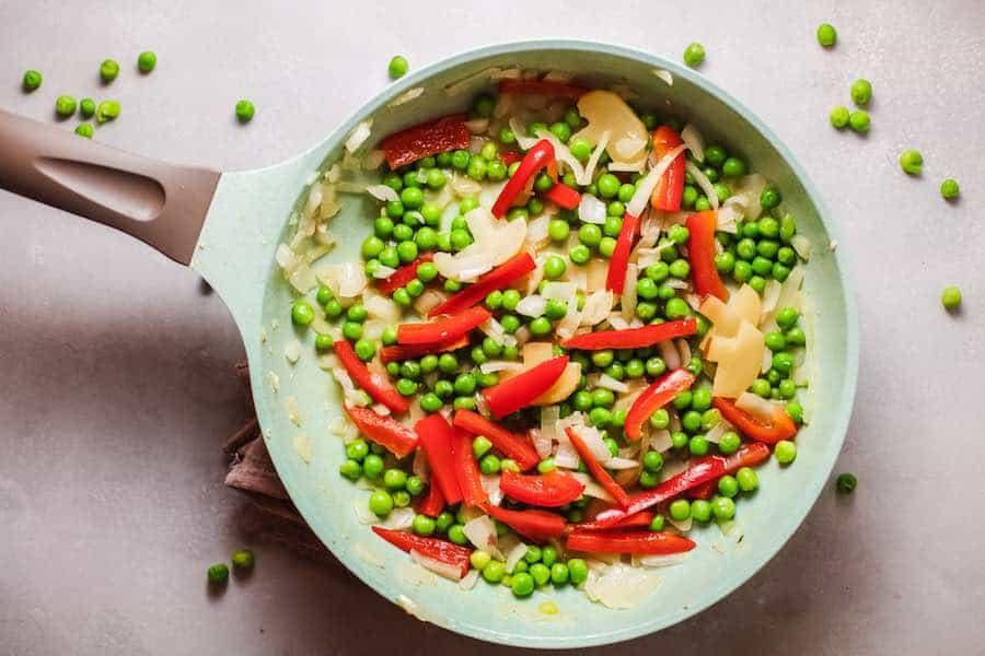 Cook Veggies in Pan