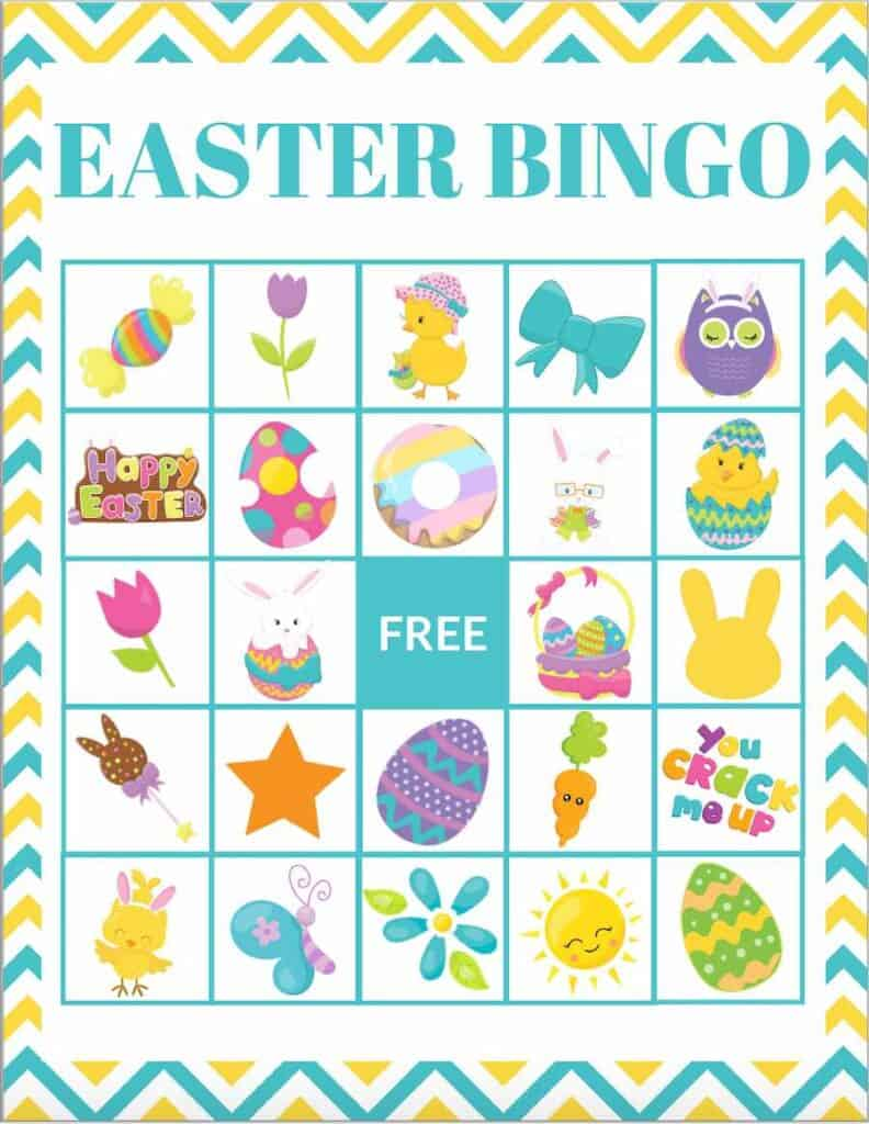 Easter Bingo Card Example