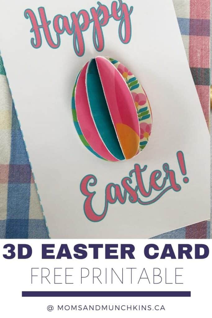 3D Easter Card Free Printable