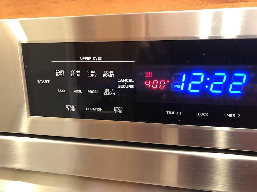 Set oven at 400