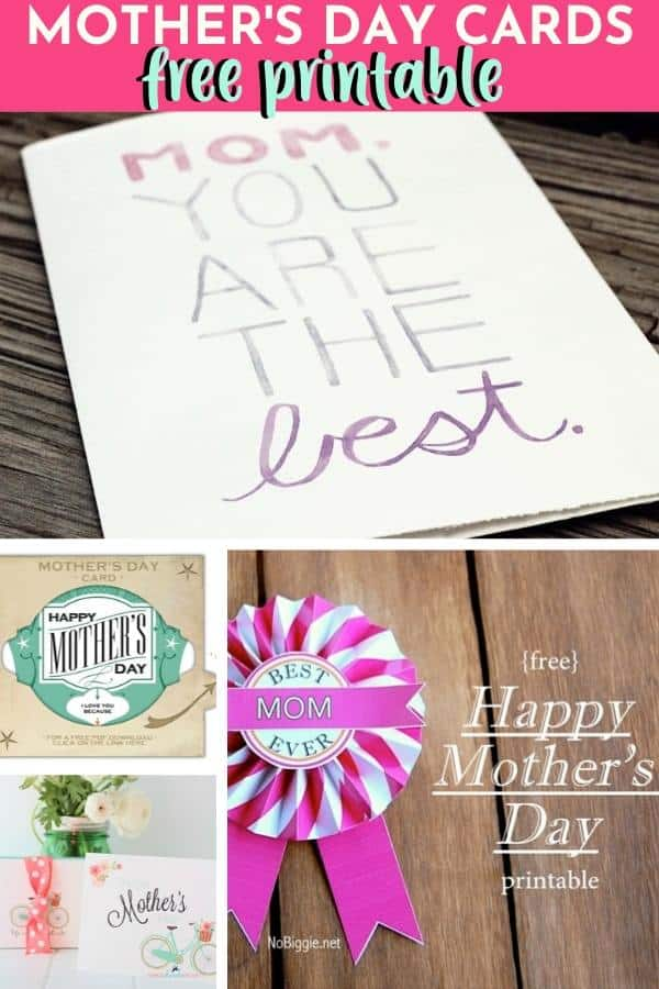 Mother's Day Cards Free Printable