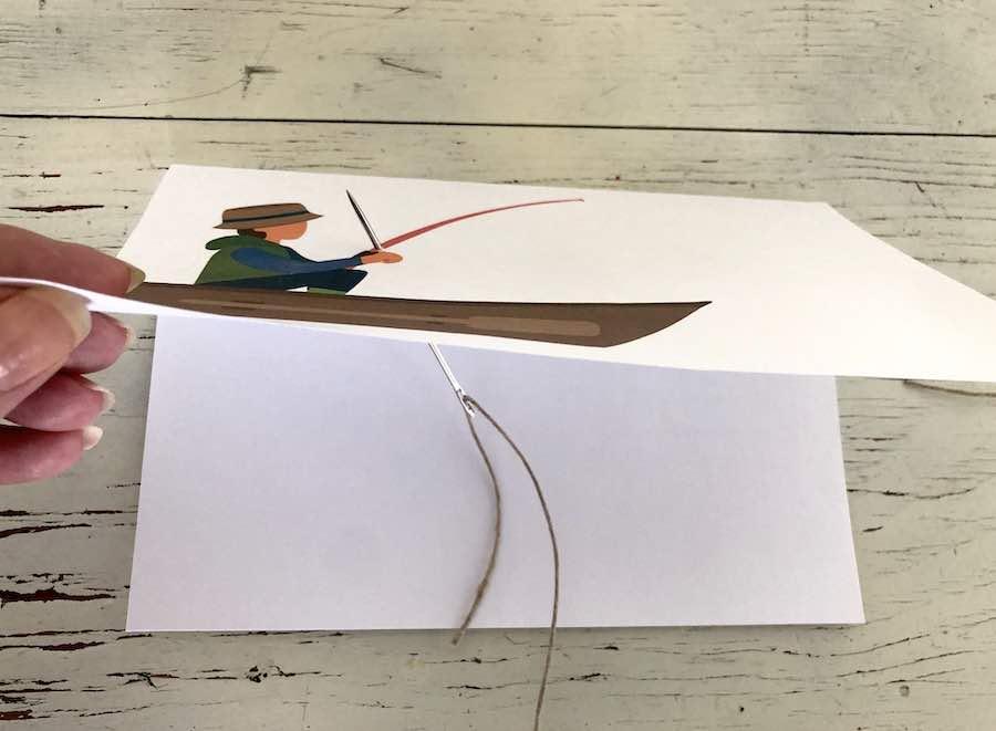 Threading String in Card