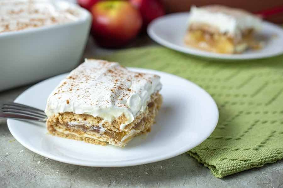 apple pie ice box cake