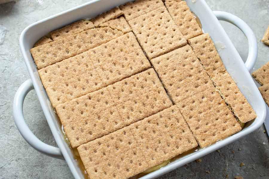 add graham cracker layer
