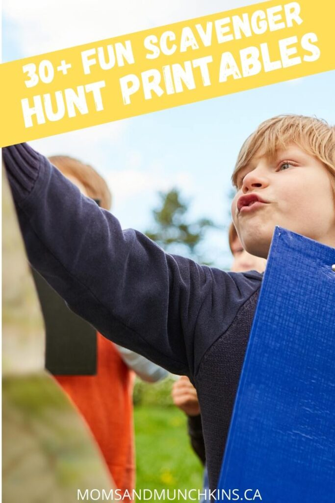 30+ Scavenger Hunt Printable Games For Kids